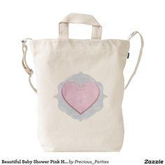 Beautiful Baby Shower Pink Heart Gift Duck Bag