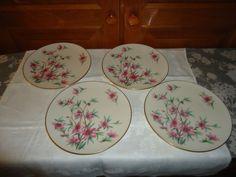 Vintage Set of 4 Lenox Peachtree Pattern Salad Plates. USA. Discontinued #Lenox