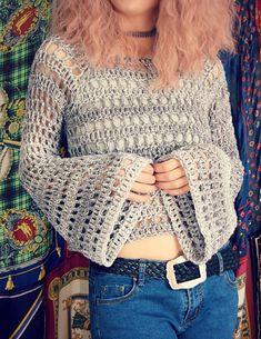 Ravelry: Window Box Sweater pattern by Regina Weiss Crochet Shirt, Crochet Cardigan, Quick Crochet, Knit Crochet, Boho Crochet Patterns, Crochet Clothes, Clothing Patterns, Sweaters, Small Bedrooms