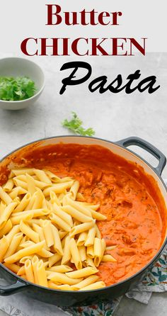 Spicy Chicken Pasta, Chicken Pasta Salad Recipes, Pasta Dinner Recipes, Butter Chicken, Creamy Chicken, Spicy Recipes, Curry Recipes, Cooking Recipes, Pasta Recipes Indian