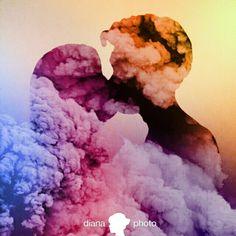 Smoke double epxosure art photography colours