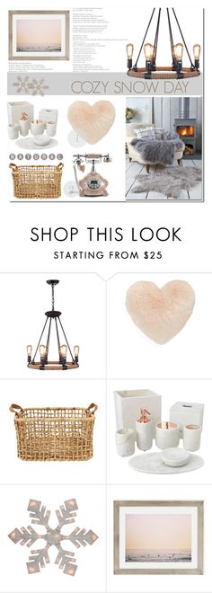 """""""cozy snow day"""" by lnchome ❤ liked on Polyvore featuring interior, interiors, interior design, home, home decor, interior decorating, Nordstrom, Home Decorators Collection and Urban Outfitters"""