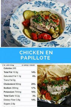 chicken en papillote, mediterranean chicken, Easy Chicken Recipe, Baked Chicken recipe, #Chicken #EasyChicken #bakedchicken #healthychicken #diet #lowcalorie #5-2diet
