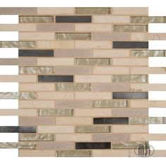 Choose our beautiful Vienna Blend Brick mosaic to bring texture and dimension to your kitchen backsplash! This charming blend of Crema Marfil marble and mixed metal and glass pieces is very easy to coordinate with cabinets and countertops. #walltilewednesday #tile