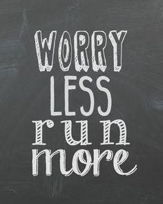 Preocuparse menos correr más corriendo el por SincerelyByNicole