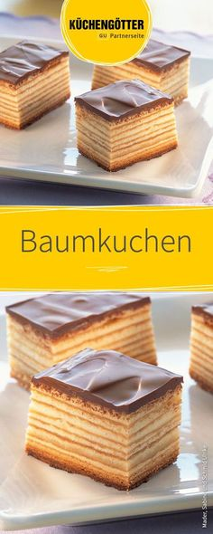Baumkuchen - Backen,Baumkuchen Recipe for tree cake for Christmas. Food Cakes, Cookie Recipes, Snack Recipes, Dessert Recipes, Juice Recipes, Torte Au Chocolat, Christmas Tree Cake, Christmas Cookies, German Recipes