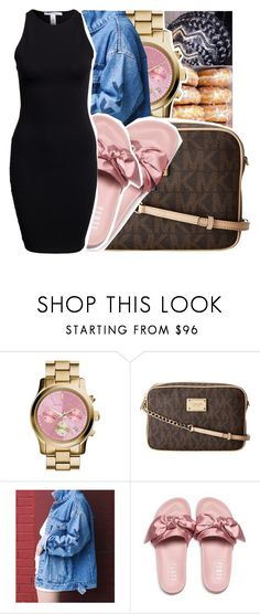 """Chilling.."" by royaltyvoka ❤ liked on Polyvore featuring MICHAEL Michael Kors, Puma and NLY Trend"