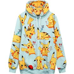 Women Hoodie 2017 Winter Harajuku Style Plus Size Cute Cartoon Print Hooded Sweatshirt Oversize Kawaii Pullover Top Hoody Female Pikachu Hoodie, Pikachu Pikachu, Hoodie Sweatshirts, Mode Kawaii, Harajuku Fashion, Harajuku Style, Kawaii Clothes, Anime Outfits, Fashion Clothes