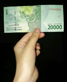New indonesian money  Rp. 20.000,00