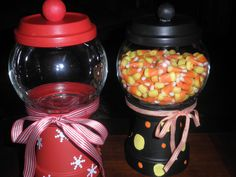 Things you need: 1 small clay pot, 2 small clay saucers… Flower Pot Crafts, Gem Crafts, Clay Pot Crafts, Christmas Clay, Christmas Ideas, Christmas Crafts, Candy Jars, Candy Dishes, Glass Glue