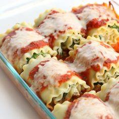 Delicious Spinach Lasagna Rolls