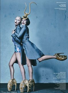 'It's okay to be in pain all the time': The ladies pose in the iconic armadillo heels in o...