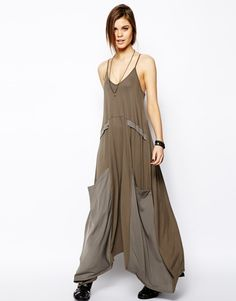 Asos Tall Khaki Maxi Dress