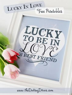 Lucky in Love Framed Art!! Cute gift idea for St. Patrick's!