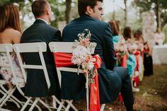The Ceremony - Flower arrangements - Garden chairs