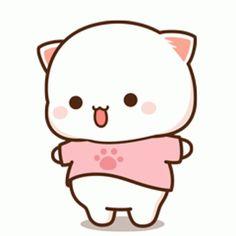 Cute Anime Cat, Cute Bunny Cartoon, Cute Cartoon Images, Cute Kawaii Animals, Cute Cartoon Drawings, Cute Love Cartoons, Cute Kawaii Drawings, Cute Cat Gif, Cute Animal Drawings