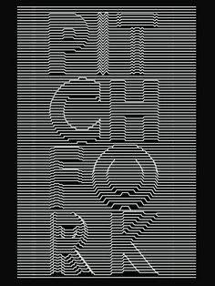 An Unknown Pleasures inspired #typographic #treatment for Pitchfork by #designer Steve Wilson