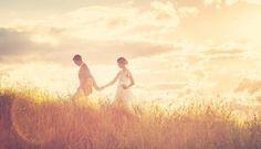 Beautiful sun-kissed wedding portrait - Planning An Eco-Friendly Wedding - Photography by Vellum Studios