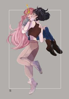 bubbline ⇢𝚏𝚘𝚕𝚕𝚘𝚠 𝚖𝚎! Adventure Time Marceline, Adventure Time Anime, Lesbian Art, Lesbian Love, Princesse Chewing-gum, Marshall Lee X Prince Gumball, Marceline And Princess Bubblegum, Bubbline, Life Is Strange