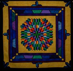 Quezal by Cindy Frese. 2014 NQA Quilt Show 3rd place - pieced large.
