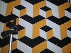 3d Wall Painting, 3d Wall Art, Wallpaper Hp, 3d Drawings, Woman Silhouette, Geometry, Graffiti, Street Art, Design