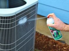 Simple and detailed instructions for DIY air conditioner maintenance! It's so simple that anybody without any HVAC knowledge can do this! Home Improvement Projects, Home Projects, Outdoor Projects, Pallet Projects, Outdoor Ideas, Clean Air Conditioner, Air Conditioner Cover, Hvac Maintenance, Preventive Maintenance