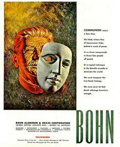 Bohn Cold War Advertisement 1952 ... false face! | Flickr - Photo Sharing!