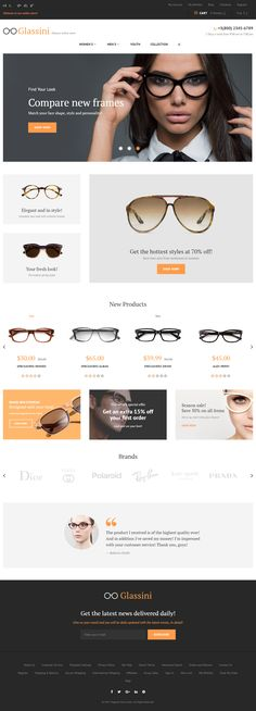 Glassini is Premium full Responsive #MagentoTheme. #BootstrapFramework. If you like this eCommerce Theme visit our handpicked list of best Magento #BootstrapThemes at: http://www.responsivemiracle.com/best-responsive-magento-bootstrap-themes/
