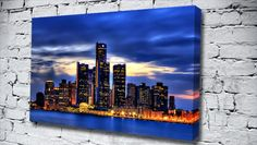 Detroit City city canvas from only £14.99 at Canvas Art Print http://www.canvasartprint.co.uk/products/DETROIT-CITY-438760.aspx