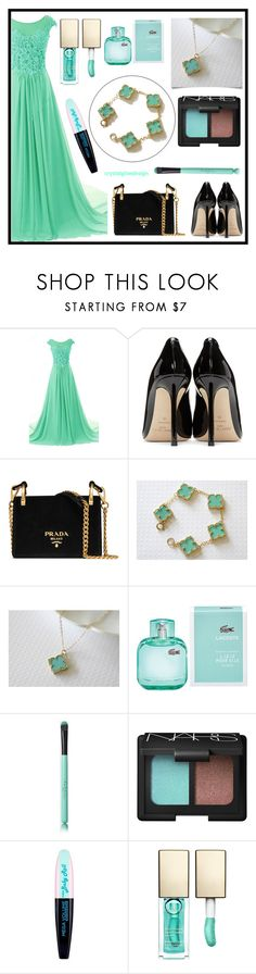 """""""cristalglowedesign 10"""" by merisa-imsirovic ❤ liked on Polyvore featuring Jimmy Choo, Prada, Lacoste, NARS Cosmetics, L'Oréal Paris and Clarins"""
