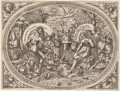 Adam and Eve among the animals in Paradise From New York Public Library Digital Collections.