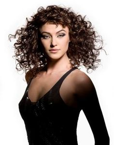 Naturally Curly Hair with Bangs   Hairstyles for long naturally curly hair with bangs 2