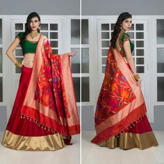 Shop online at www.tamannaworld.com  #handloom #Banarasi #Richsilk #Traditional #Silklehenga