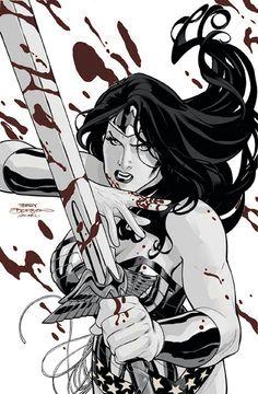 WONDER WOMAN #10 Cover by Terry Dodson & Rachel Dodson