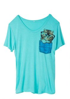 Kitty Pocket Tee - Graphic Tees - Clothes - dELiA*s