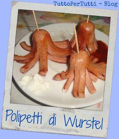 TuttoPerTutti: POLIPETTI DI WURSTEL. Come presentare un antipasti in maniera divertente!! http://tucc-per-tucc.blogspot.it/2015/04/polipetti-di-wurstel.html