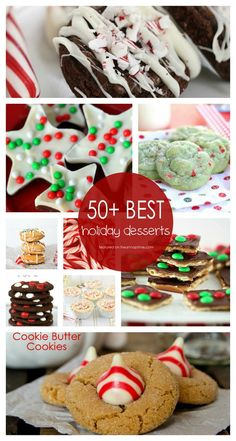 50+ BEST Holiday Desserts featured on iheartnaptime.net ...so many great recipes all in one place! #Christmas #recipes