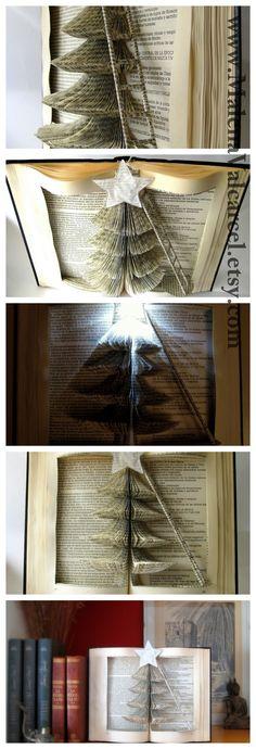 Book Art - Christmas Tree