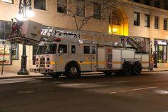 Denver Fire Department Tower Ladder 9 - #Firefighting #Fire #Apparatus #Setcom #Aerial #Bucket #Ladder #Rescue