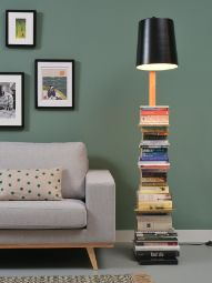 IT'S ABOUT ROMI Citylights Cambridge: floor lamp and books storage in one! The lamp for book lovers. Also available w/white shade. Decor, Urban Lighting, Interior, Beautiful Furniture, Lamp, Furniture Casters, Floor Lamp, Flooring, Feather Lamp