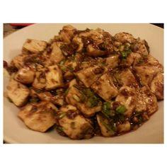 一緒に届いた#陳建一 の#麻婆豆腐 #mapotofu for #dinner from #japan #japanese #food #philippines#晩ご飯#フィリピン