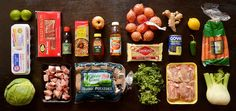 Here are all the groceries you'll need to cook these five dinners: