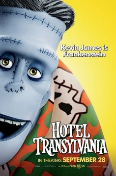 New character movie posters for 'Hotel Transylvania' featuring Dracula, Frankenstein, The Invisible Man and more.
