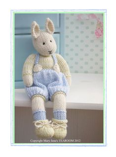 a baby bunny who is tall. A PDF Knitting pattern which is sent to you by email Please note there is a 2 pattern deal available if you wish to purchase both SAMUEL and his sister LILY Bunny Details included in each pattern: Equipm. Bunny Toys, Baby Bunnies, Knitting Patterns, Crochet Patterns, Bear Patterns, Little Cotton Rabbits, Handmade Gift Tags, Knitted Animals, Swatch