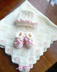 "- Coperte neonato all'uncinetto ajur-ornekli-kare-desenli-bereli-battaniye-takimi - Coperte neonato all'uncinetto Baby Knitting Pattern for a Pram and Cushion Cover. Approximate size for Pram Cover is and Cushion Cover is Select ""add to basket"". Baby Cardigan Knitting Pattern, Baby Afghan Crochet, Crochet Blanket Patterns, Baby Knitting Patterns, Baby Patterns, Easy Crochet, Wool Baby Blanket, Baby Shawl, Knitted Baby Blankets"