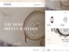 Watches luxury homepage