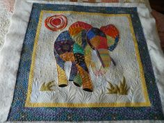 Ellie the Elephant made by BeckySt from the Quilting Board