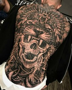 Another side this full leg sleeve ? Back Piece Tattoo Men, Back Of Neck Tattoo Men, Full Neck Tattoos, Leg Tattoo Men, Back Tattoos, Tattoos For Guys, Tattoo Cou, Backpiece Tattoo, 16 Tattoo