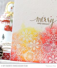 Welcome to the My Favorite Things October Release Countdown Day We've reached the final day of the countdown! Today I want to share with you a couple cards I've made using… Christmas Makes, Christmas Cards To Make, Christmas Tag, Xmas Cards, Winter Christmas, Handmade Christmas, Holiday Cards, Christmas Ideas, Snowflake Cards