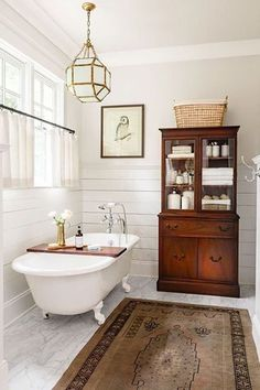 Beautiful Outstanding Images Farmhouse Bathroom Clawfoot Tub, Each tub is a bit different, so finding feet that in fact fit a specific tub is difficult. Our tub had a good deal of little bumps f . Bad Inspiration, Bathroom Inspiration, Bathroom Styling, Bathroom Interior Design, Bathroom Storage, Bathroom Lighting, Ideas Baños, Decor Ideas, Decorating Ideas